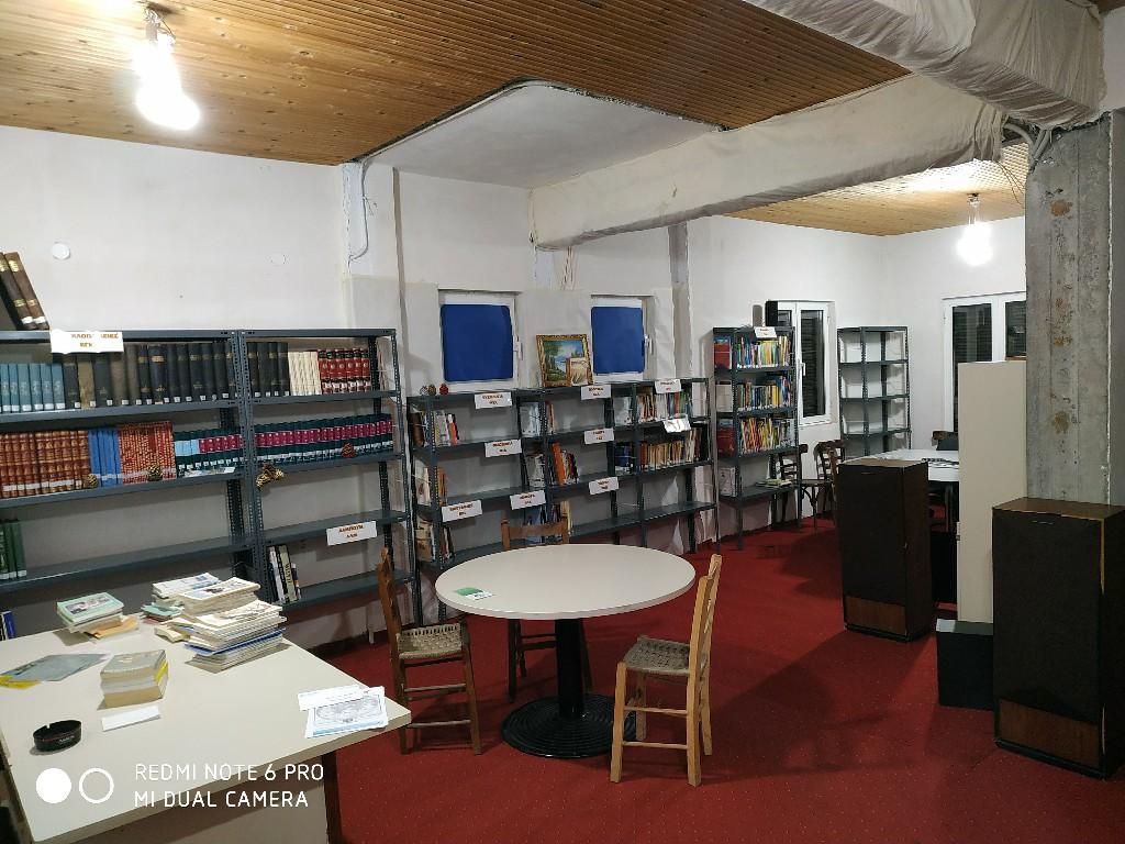 Προετοιμασία χώρου Δανειστικής Βιβλιοθήκης Βαλτεσινίκου